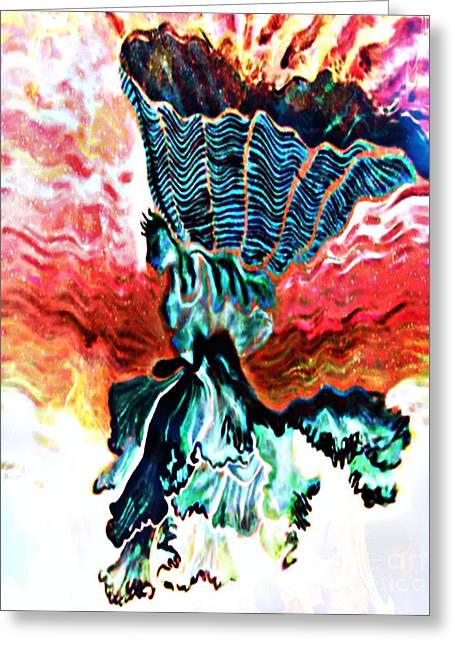 Angel Solar Greeting Card by Genevieve Esson