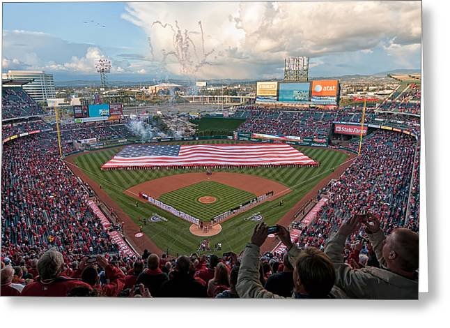 Angel Stadium Of Anaheim Greeting Card
