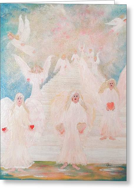 Angel Stairway Greeting Card