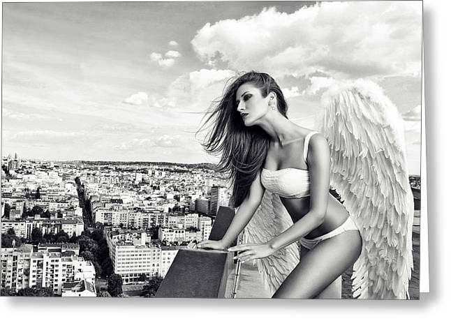 Angel Greeting Card by Stefan Amer