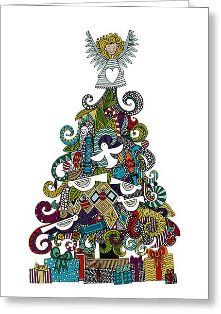 Angel Tree Greeting Card by Sharon Turner
