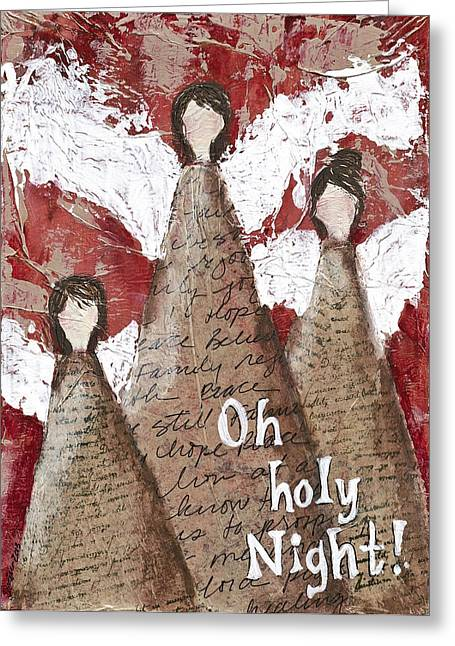 Angel Trio Greeting Card by Kirsten Reed