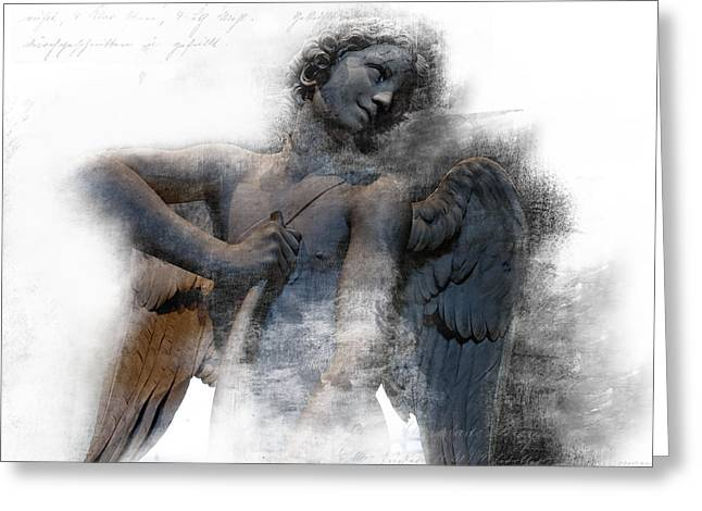 Angel Warrior Greeting Card by Evie Carrier