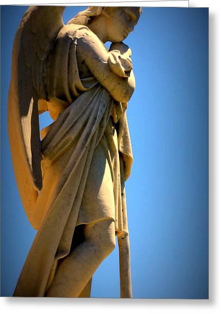 Angel Watching Greeting Card