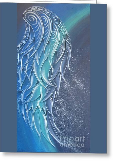 Angel Wing Greeting Card by Reina Cottier