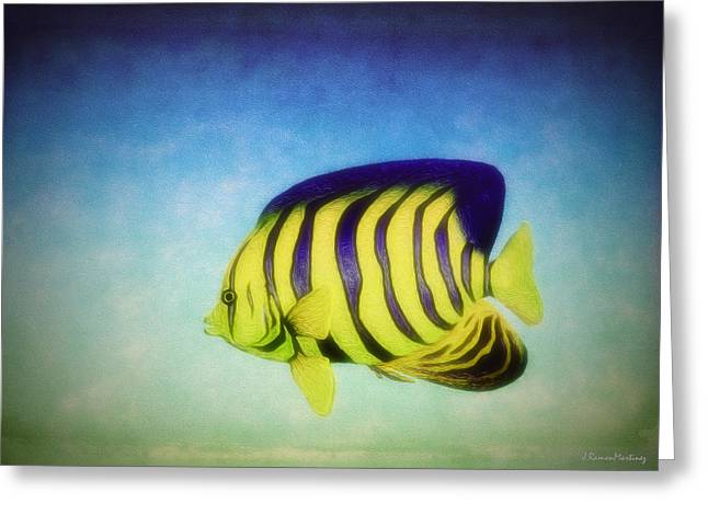 Angelfish Greeting Card by Ramon Martinez
