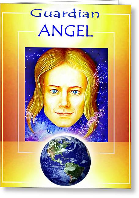 Angelic Guardian Greeting Card by Hartmut Jager