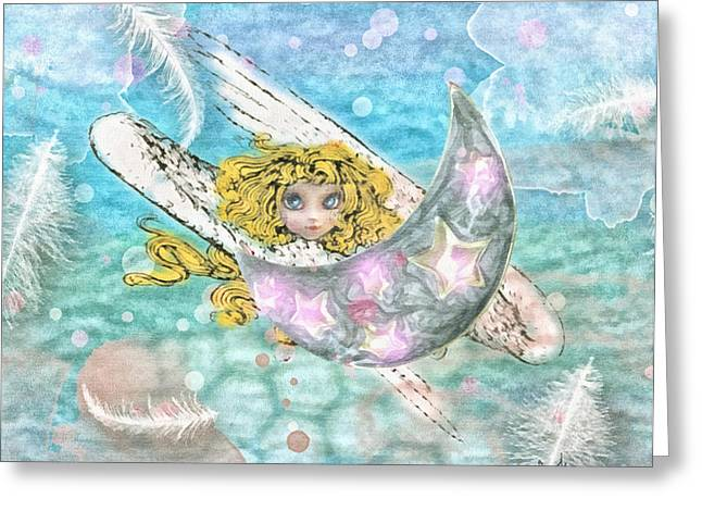 Angelito Greeting Card by Mo T