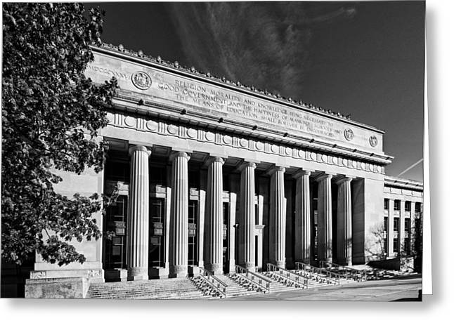 Angell Hall - University Of Michigan Greeting Card