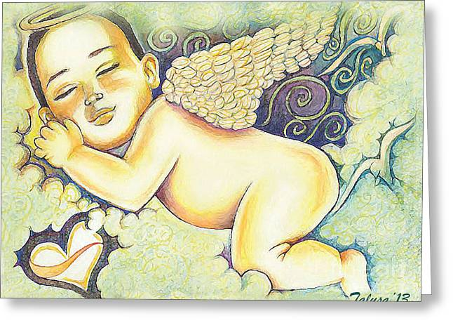 Angels In The Sky Greeting Card by Teleita Alusa
