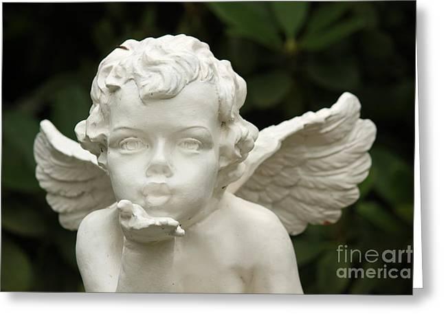 Angels Kiss Greeting Card