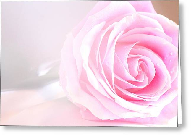 Angel's Love Rose Greeting Card by The Art Of Marilyn Ridoutt-Greene