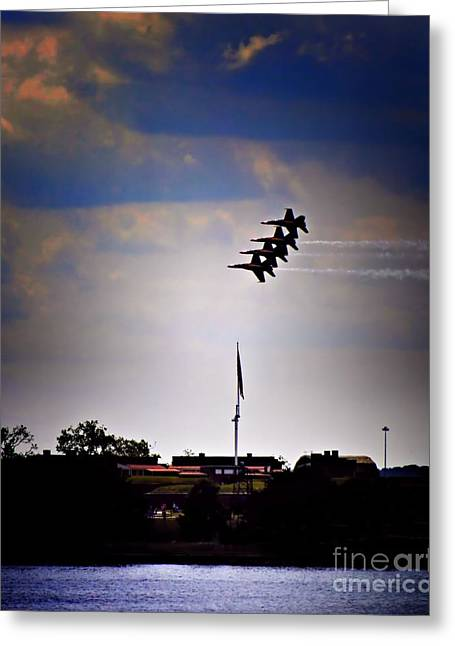 Angels Over Ft. Mchenry 2 Greeting Card by Robert McCubbin