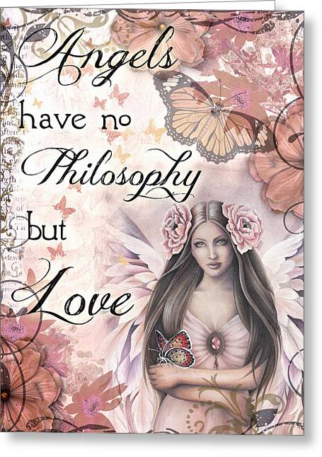 Angels Philosophy Greeting Card