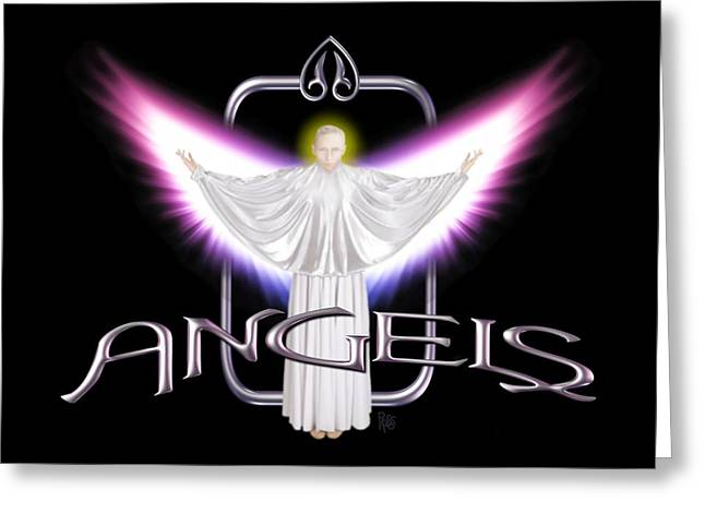 Greeting Card featuring the digital art Angels by Scott Ross