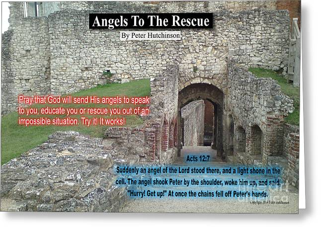 Angels To The Rescue Greeting Card