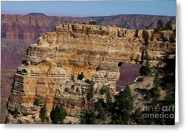 Angel's Window At Cape Royal Grand Canyon Greeting Card by Christiane Schulze Art And Photography