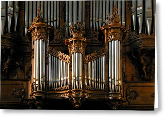 Angers Cathedral Organ Greeting Card