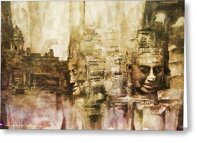 Angkor Greeting Card by Catf