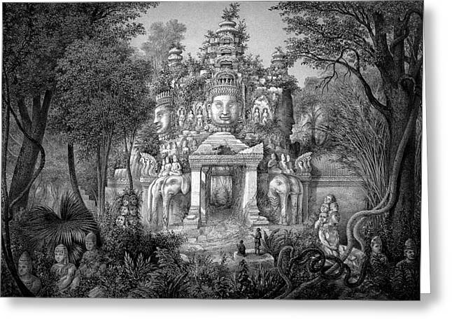 Angkor Temple Greeting Card by Cci Archives