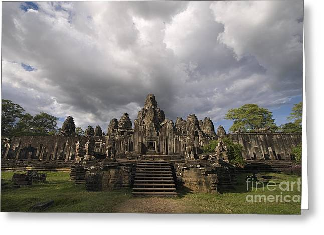 Angkor Thom At Angkor Wat Greeting Card by Craig Lovell
