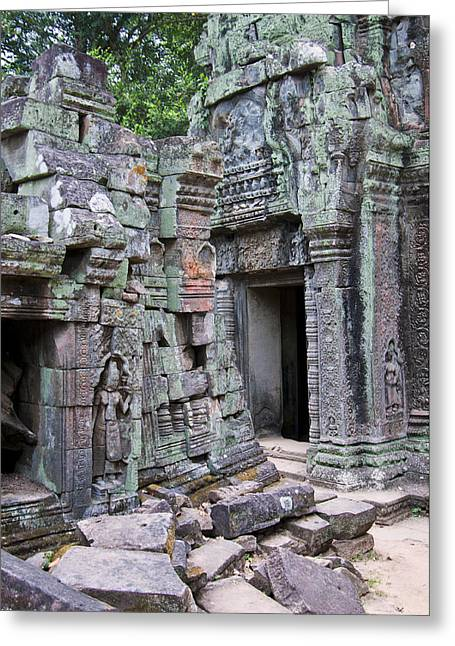 Angkor Tom Greeting Card