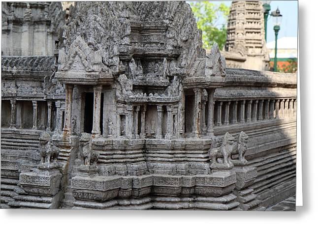 Angkor Wat Model - Grand Palace In Bangkok Thailand - 01133 Greeting Card by DC Photographer