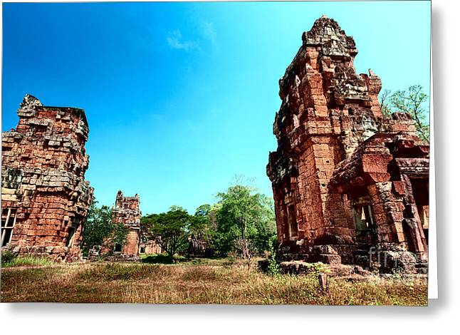 Angkor Wat Ruins Greeting Card