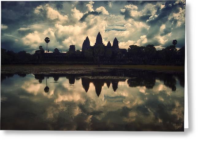 Angkor Wat Sunset Greeting Card