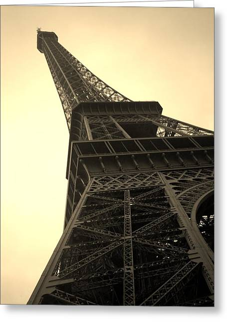 Angle Of The Tower Greeting Card by Steven  Taylor