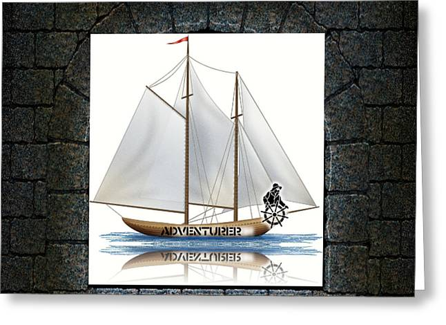 Angle Of View Greeting Card by Museum Quality Prints -  Trademark Art Designs