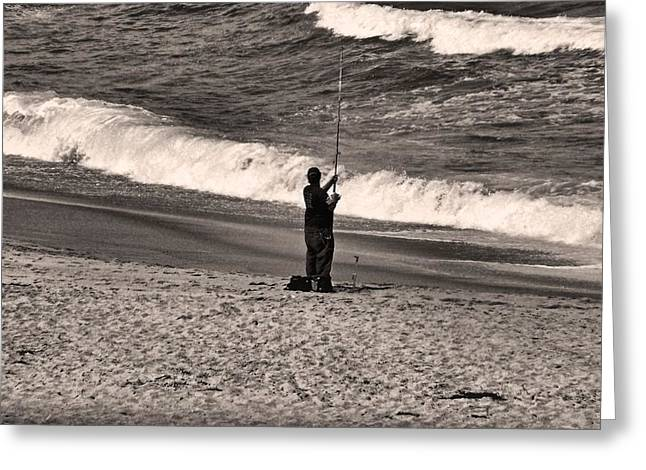Greeting Card featuring the photograph Angler by Bob Wall