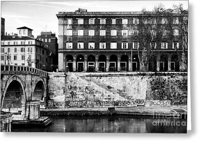 Angles In Trastevere Greeting Card by John Rizzuto