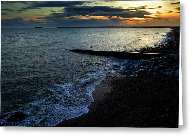 Angling From A Slipway,youghal,county Greeting Card by Panoramic Images
