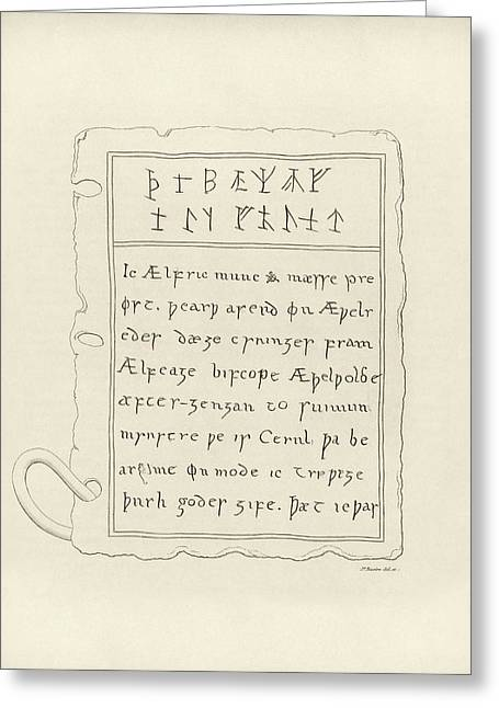 Anglo-saxon Lead Book Cover Greeting Card