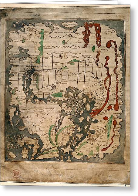 Anglo-saxon World Map Greeting Card
