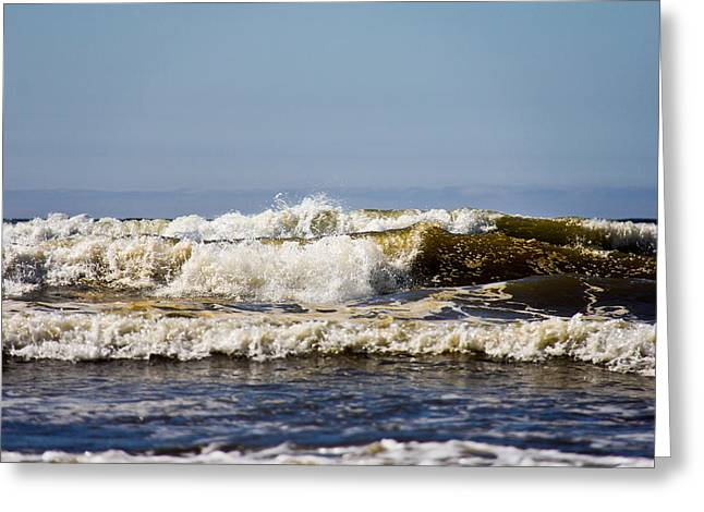 Beach Greeting Card featuring the photograph Angry Ocean by Aaron Berg