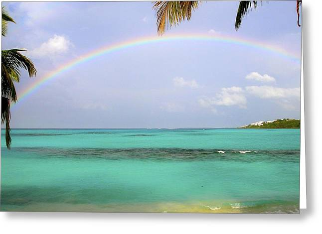Anguilla Rainbow At Shoal Bay Greeting Card