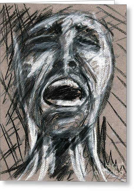 Anguish Greeting Card by Jessica Sturges