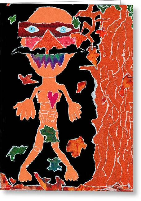 Anguished Scream V1 Greeting Card by Kenneth James