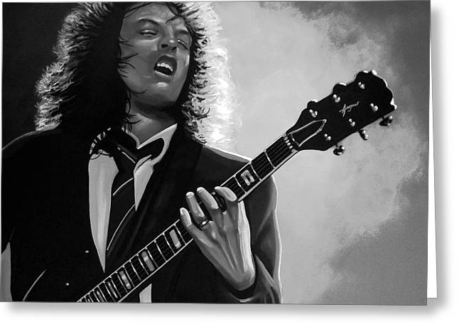 Angus Young Greeting Card