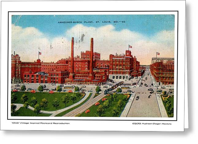 Anheuser Busch Plant 1943 Greeting Card