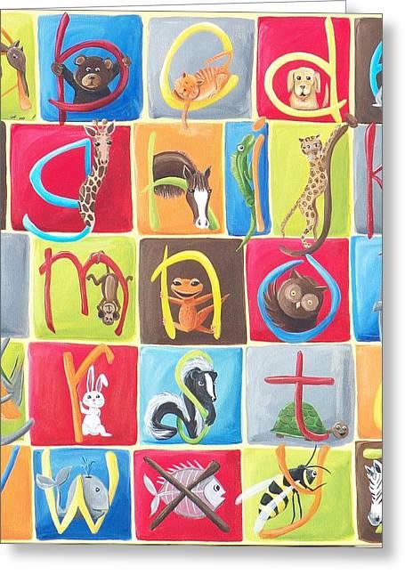 Animal Alphabet Greeting Card by Tracie Davis