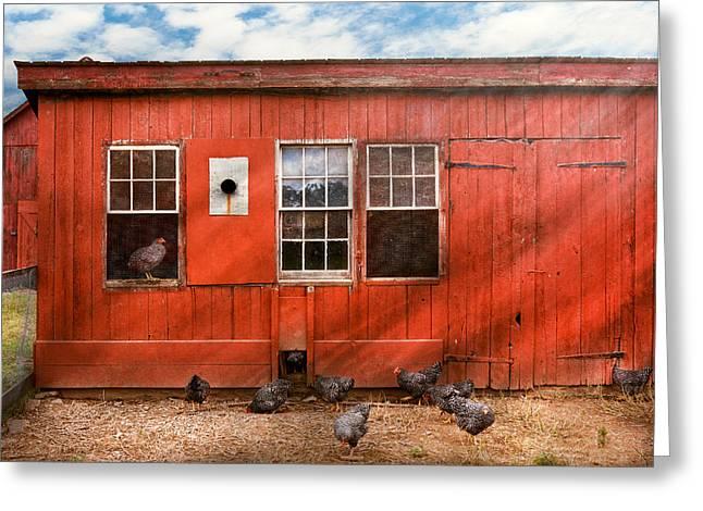 Animal - Bird - Bird Watching Greeting Card by Mike Savad