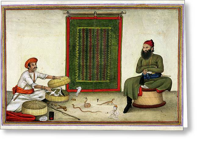 Animal Conjuror In India Greeting Card by British Library