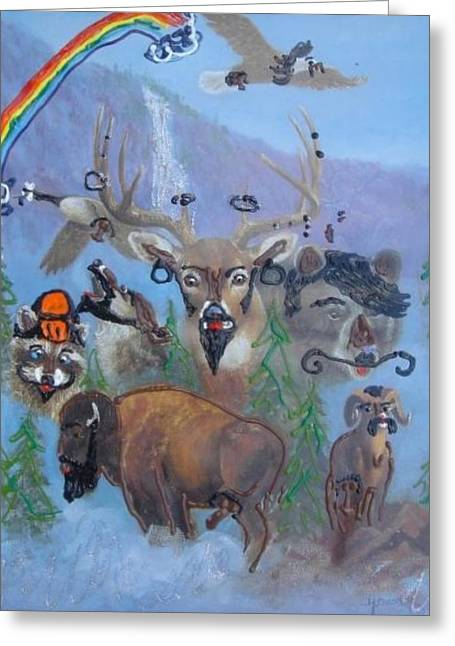 Greeting Card featuring the painting Animal Equality by Lisa Piper
