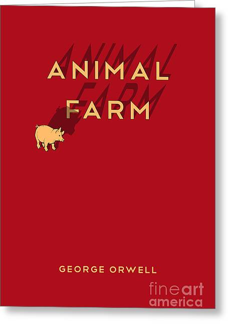 Animal Farm Book Cover Poster Art 1 Greeting Card by Nishanth Gopinathan