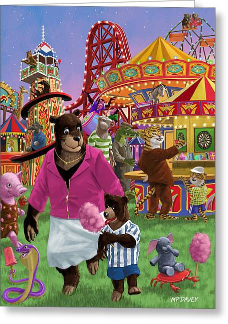 Animal Fun Fair Greeting Card
