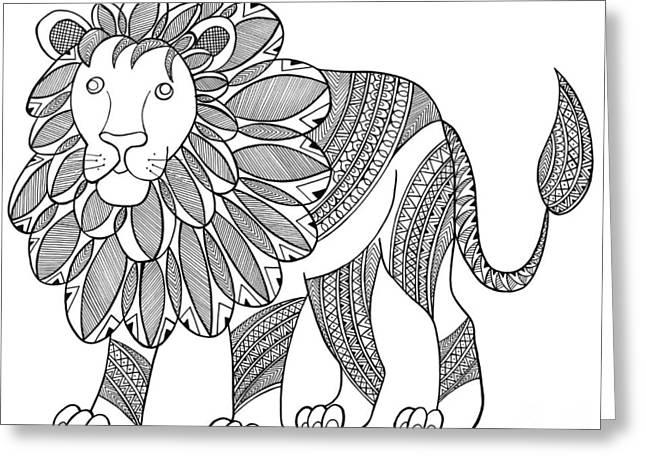 Animal Lion Greeting Card