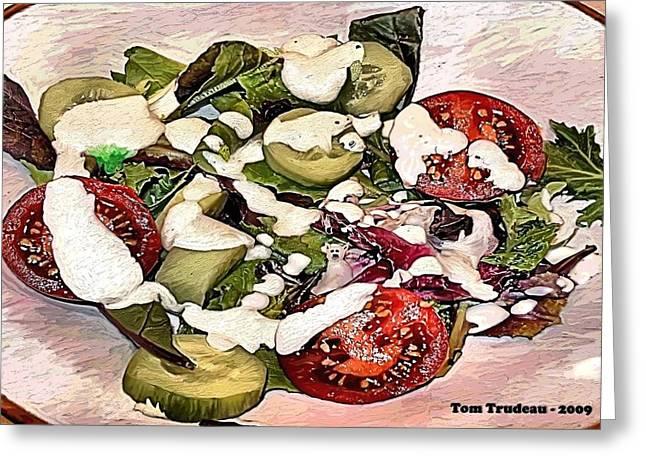 Animal Salad Greeting Card